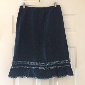 Calypso Christiane Celle vintage 80s denim skirt